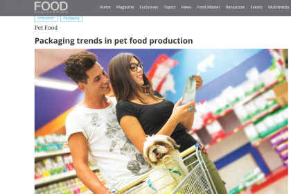 Packaging trends in pet food production